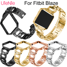 Stainless steel wristband+Bezel For Fitbit Blaze smart watch men's watches women's bracelet For Fitbit Blaze strap accessories watchbands stainless steel strap bands bracelet black silver gold with tool for fitbit alta blaze tracker smart wristband