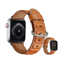 Genuine Leather strap for apple watch band 4 42mm 38mm bracelet high quality watchband for iwatch 4/3/2/1 44mm 40mm wristbelt недорго, оригинальная цена