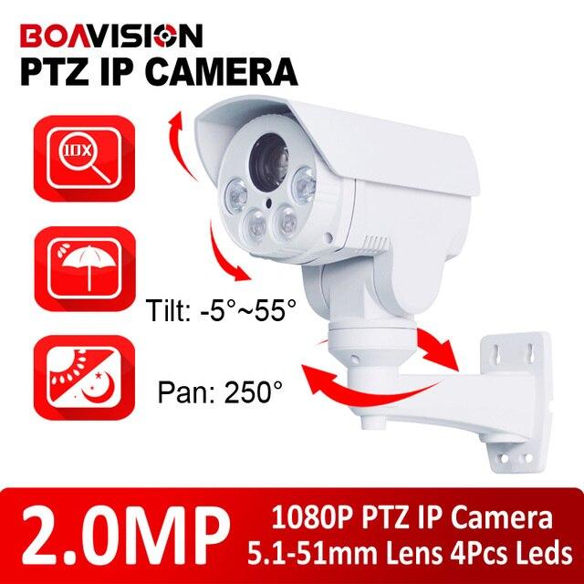 "New Model 1/2.8"" CMOS Sensor 2.0Megapixel 10X Optical Zoom Motorized Lens HD 1080P IR 80M Mini PTZ IP Camera,Pan/Tilt,Outdoor"