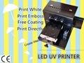 А4 Размер 6 цвет УФ-Принтер Универсальный Планшетный Принтер Прямой Печати Машина для Печати Белый