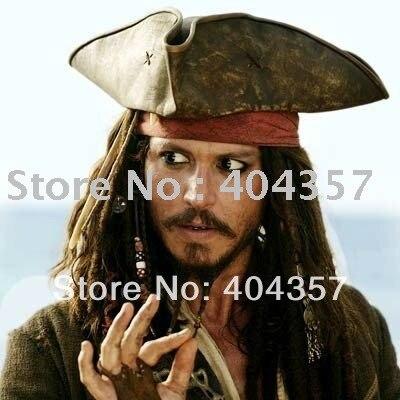 Pirata de Caribbiean capitán JACK SPARROW sombrero en Disfraces ... 01659ecc4a7