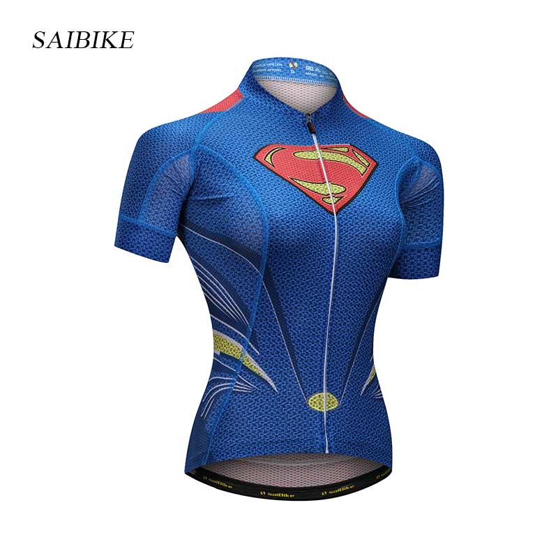 Super Hero Summer cycling jersey Women short sleeve breathable Cycling Clothing Bike sports wear Bicycle mallot ciclismo mujer free shipping women s cycling jerseys female bike jersey high quality summer bicycle racing clothing short sleeve sports wear