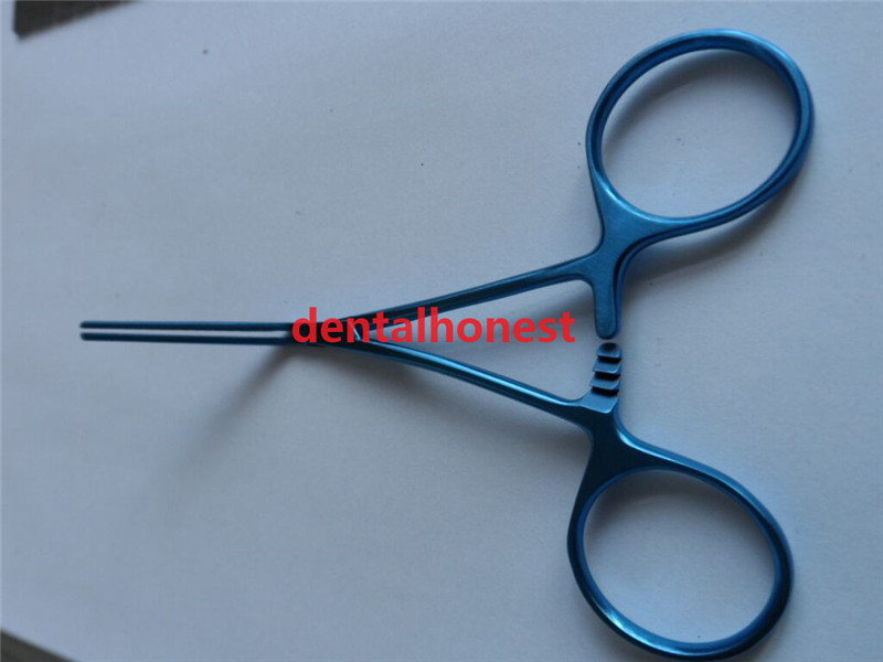 New Titanium Alloy Notched Vascular Clamp Forceps 12.5cm Long Surgical Instruments