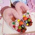 Ручной Мультфильм Милый Розовый Лодыжки Женщин Снега Сапоги Удобные Плоские Теплые Меховые Сапоги Роскошный Дизайн Зимняя Обувь Женщина