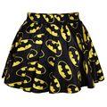 16 Color Nuevo 2015 verano faldas para mujer faldas plisadas BATMEN El Flash Impresa Saia Falda