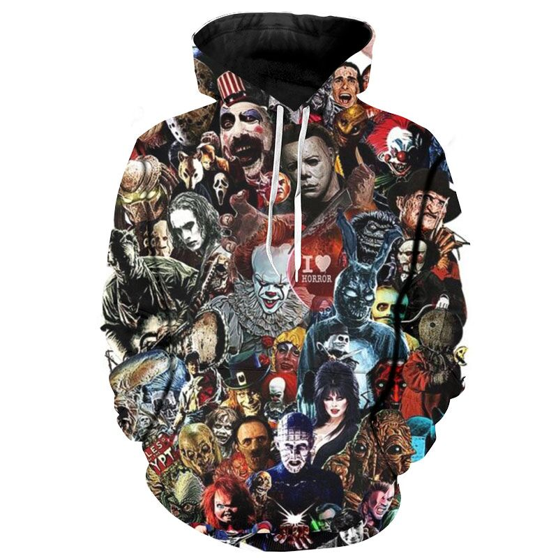 YFFUSHI 3d Hoodies For Male Full Print Sweatshirts Men Pullovers Hip Hop Cool Hooded Funny Tops