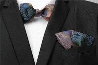 Free Shipping New fashion casual male men's man Original feather tie pocket wedding BOWS WEDDING groom preside gift
