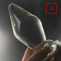 16.5*8cm large big glass Anal plug huge butt plug beads Dildo fetish sex toys products anal Sex toys for women/men buttplug ass