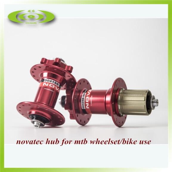 Moyeu de vélo vtt noir novatec 041 042 moyeu de vélo de frein à disque rouge