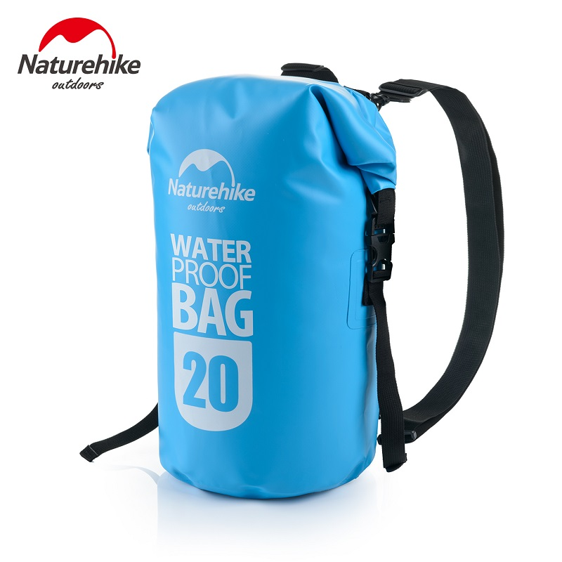 Naturehike Factory Store Outdoor Waterproof Bag Dry Wet Separation Swimming Bag Beach Mobile Phone Snorkel Backpack Drifting Bag Water Bags Camping & Hiking