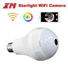 360 Panoramin Akıllı Ev Güvenlik Wifi 960 P VR Kamera LED Ampul Güvenlik Kamera Hareket Algılama CCTV Desteği PC tablet telefon