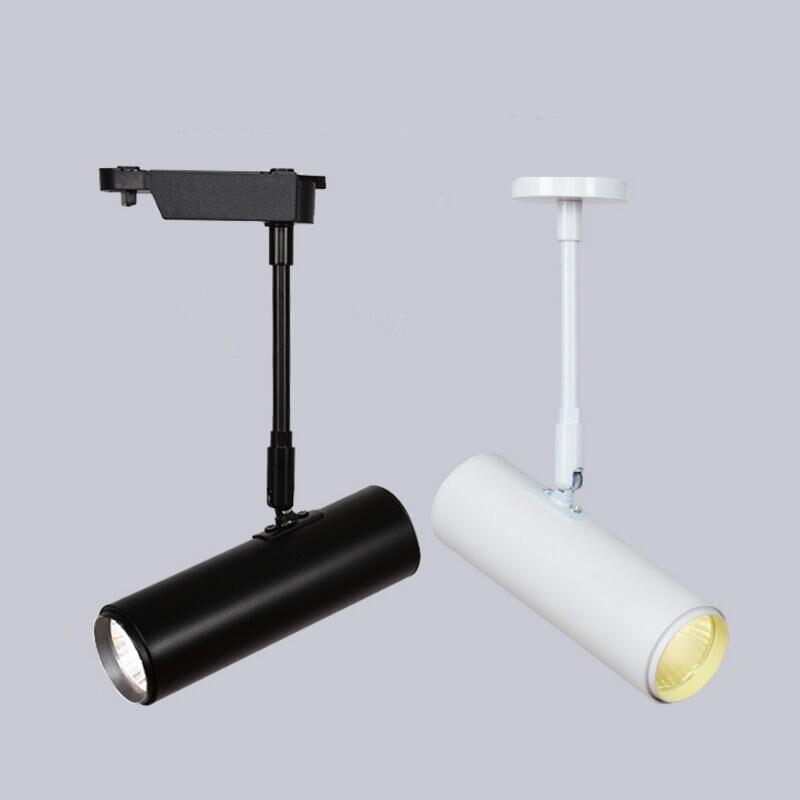 Hot sale 20W/30W White Shell/Black shell COB Rail track light Led Track Light Surface Mounte Down AC85-265V