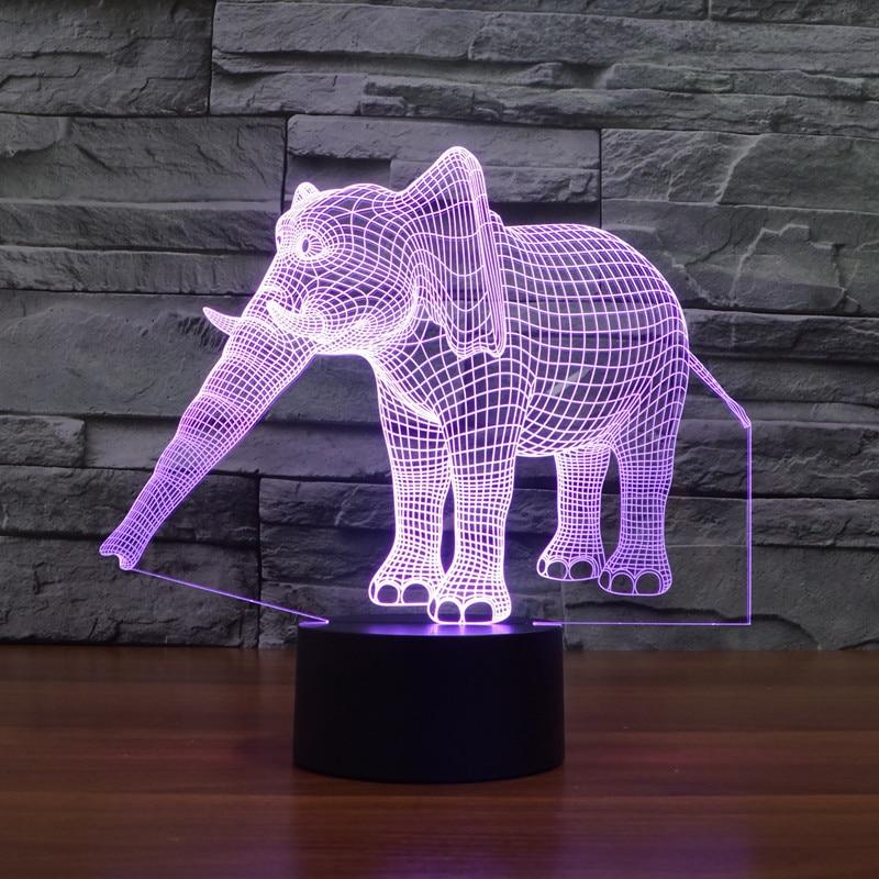 Luzes da Noite criativo 3d elefante luz night Utilização : Feriado
