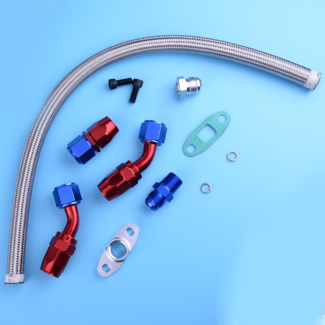 Beler nouveau Kit de ligne de vidange de retour d'huile Durable pour Turbo chargeur pour T3 T4 T70 T66 TO4E