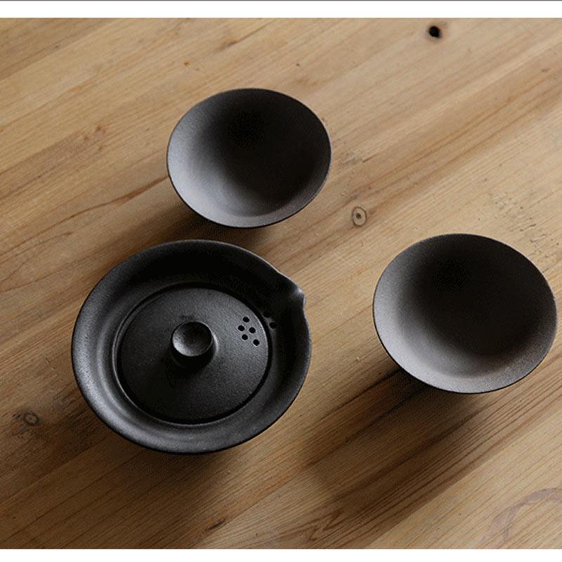 Portable Travel Gong Fu Tea Gaiwan Set 4