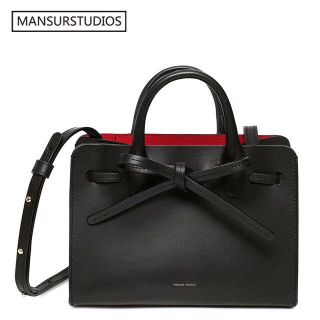 NEWEST MANSURSTUDIOS  Women Split Leather Sun Bag ,mansur Lady Leather Shoulder Bag,gavriel Leather Tote Bag,Travel Bag