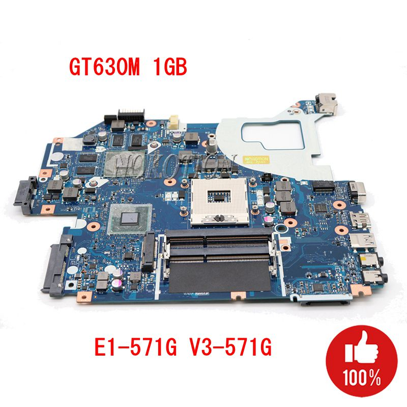 acer v3 571g материнская плата - NOKOTION laptop motherboard for ACER Aspire E1-571G V3-571G V3-571 NBY1X11001 Q5WV1 LA-7912P GT630M HM77 PGA989 DDR3