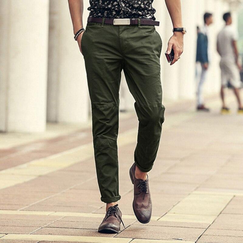 Spring new army green pantalon cargo mens pants casual fashion men's cotton trousers brand men's Slim fit overalls men