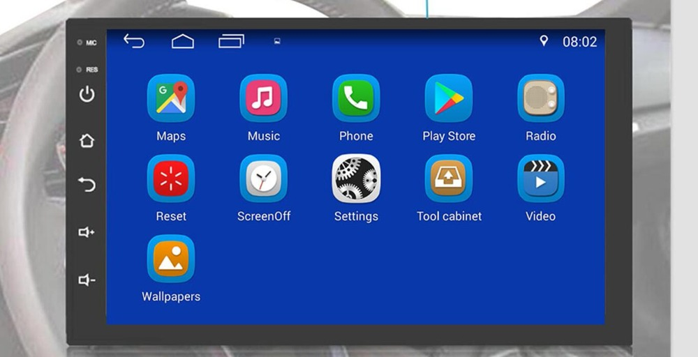 2 Din Android 9.0 universel autoradio pas de lecteur DVD GPS Navigation Quad Core voiture stéréo écran tactile Wifi OBD2 Headunit - 3