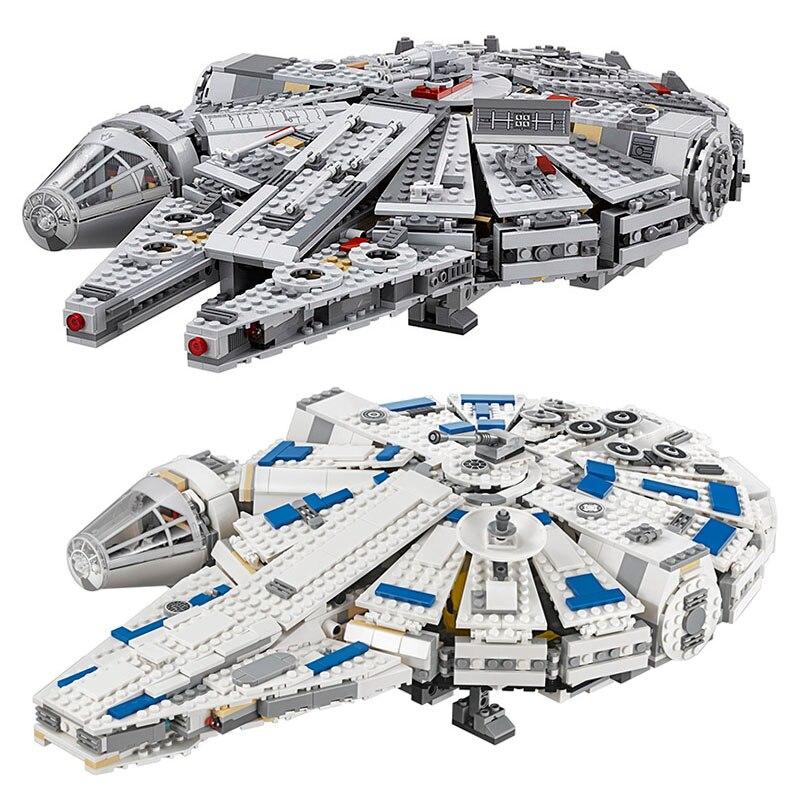 В наличии H & HXY Лепин 05142 05007 Star Force Awakens тысячелетия войны 75212 75105 новогодние игрушки Сокол Модель Строительный кирпич
