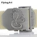 King cobra Marine corps tactical Cinturones Cinturón de Lona Militar Para para hombre y para Mujer Al Aire Libre Hebilla Ceinture Jeans Casual 140 150 160 cm