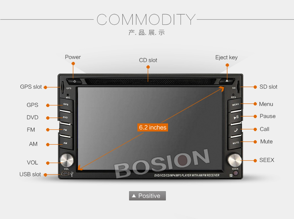 Unit Stereo Player Bosion