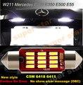 2 x New 39mm Número Da Placa Da Luz Lâmpada LED Canbus Licese para Mercedes W164 ML350 EW211-Class E320 E350 E550 E55 ML