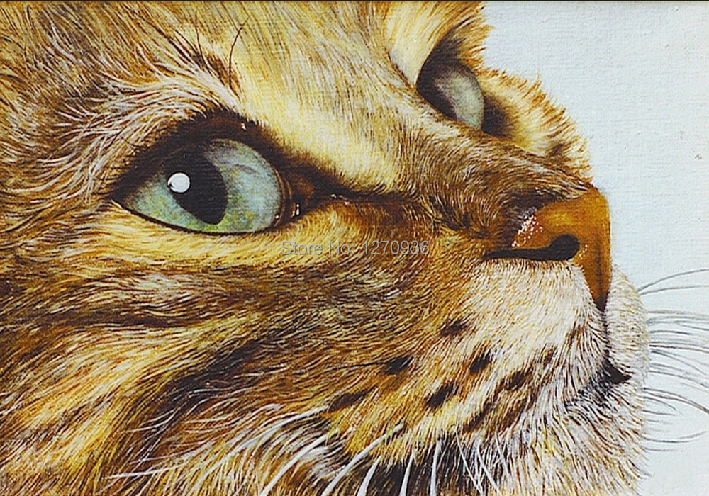Online buy wholesale cat artwork from china cat artwork for Cat paintings on canvas