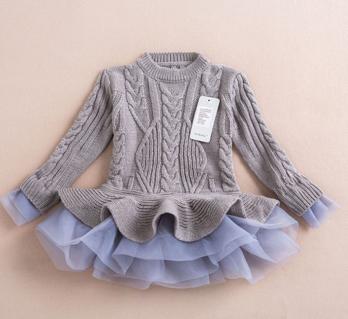 5c59f99d4a46 Baby Girls Toddler s Multi Color Pullover Woolen Organza Sweater ...