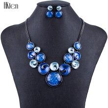 MS1504295 Moda Sistemas de la Joyería de Alta Calidad de 5 Colores Del Partido Único Del Diseño Conjuntos de Collar De Joyería de Las Mujeres Ronda Resina de Regalo