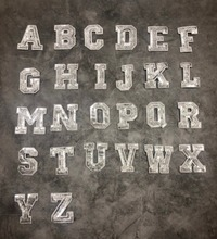 1Pcs Silver Sequins Alphabet Letter Patch For T-shirt Sew On Garment Accessories Applique Decoration Repair Patches Stickers A~Z