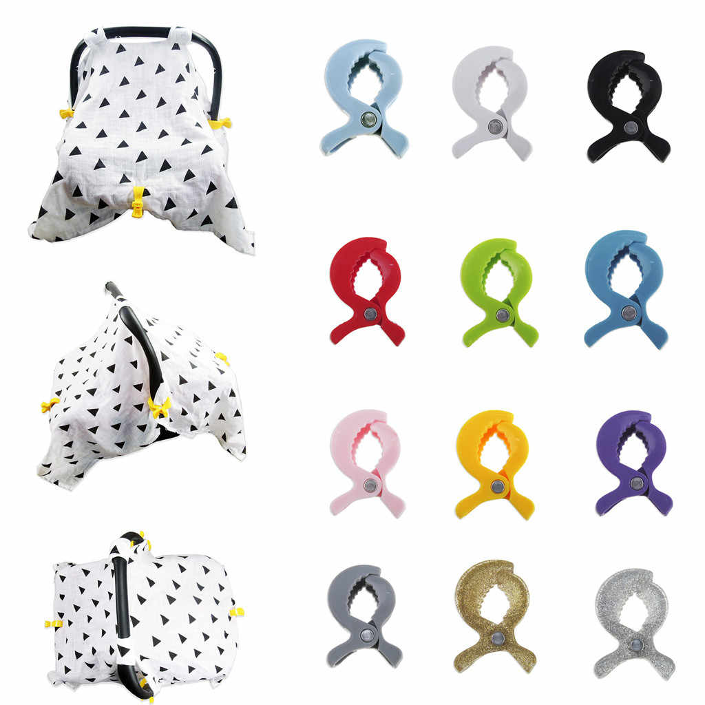 1pc/lot Baby Colorful Car Seat Accessories Plastic Pushchair Toy Clip Pram Stroller Peg To Hook Cover Blanket Mosquito Net Clips