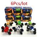 6 pçs/lote tamanho grande incêndio do carro transformador toys figuras de ação modelo educacional brinquedo crianças meninos presente