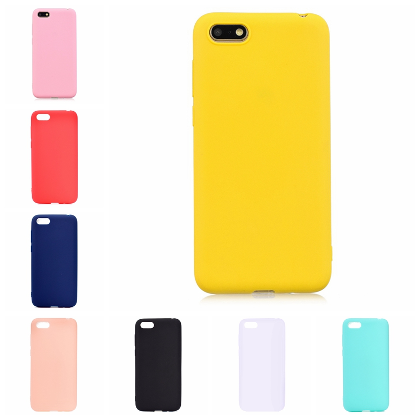 Candy Color Phone <font><b>Case</b></font> For Coque Hawei Y5 <font><b>2018</b></font> Soft Silicon TPU Back Cover <font><b>Cases</b></font> For Etui <font><b>Huawei</b></font> Y5 <font><b>2018</b></font> <font><b>Y</b></font> <font><b>5</b></font> 5Y Back Cover image