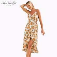 Designed for dignity women Sexy Dress Leaf print bohemian Dress backless Summer beach Dress Evening reception part dress jungle leaf print shell dress