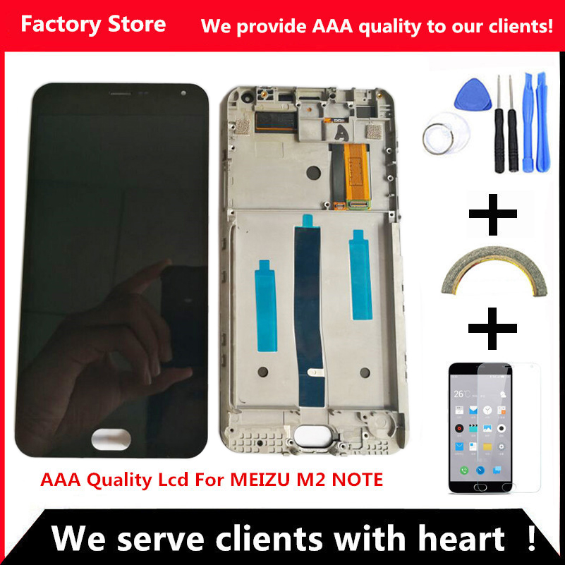 Q&Y QYJOY AAA Quality LCD+Frame For MEIZU M2 Note Lcd