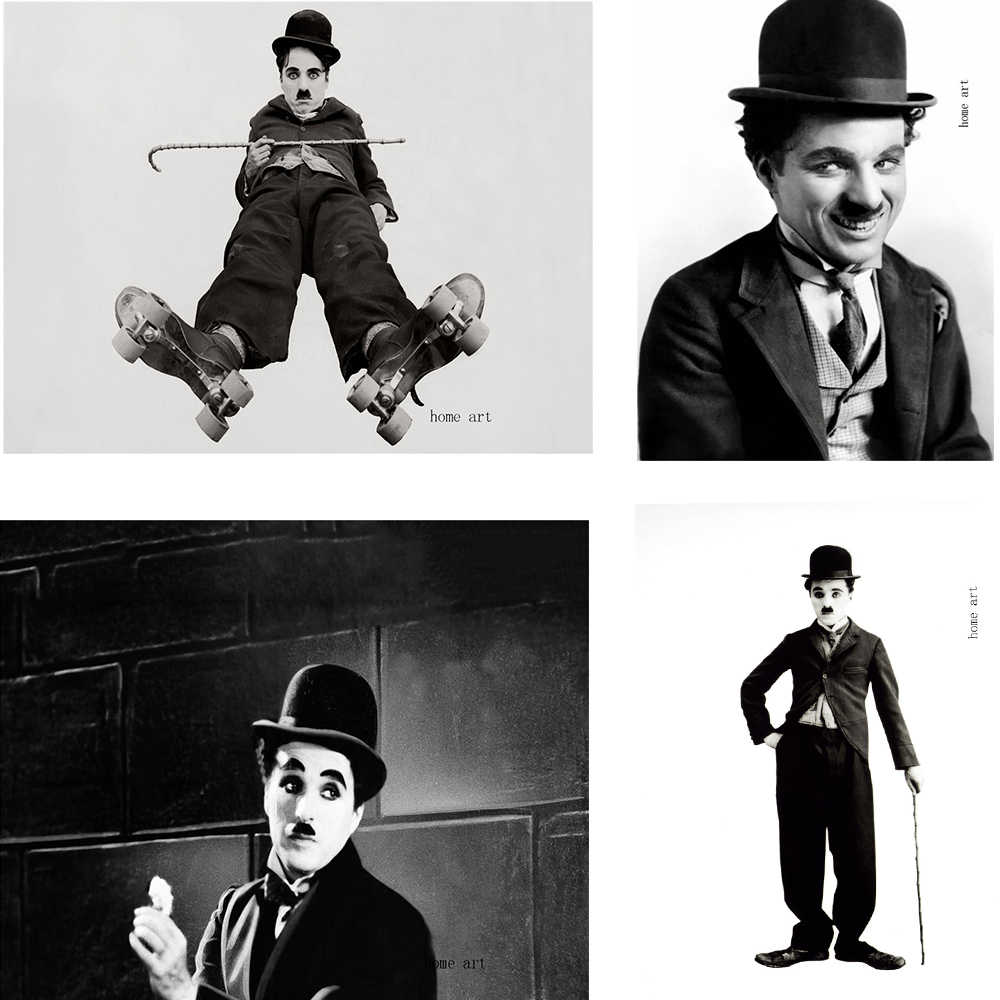 charlie chaplin  Poster Clear Image Wall Stickers Home Decoration Good Quality Prints White Coated Paper home art Brand