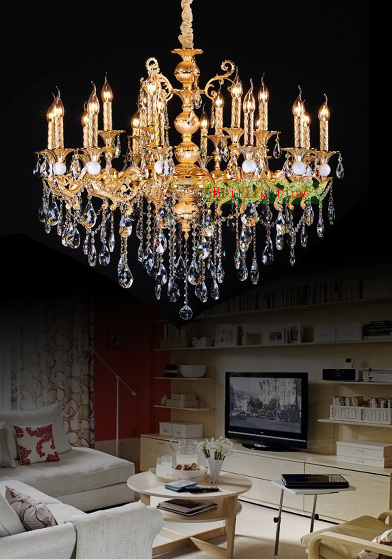Gold Plated Zinc Alloy Crystal Chandelier Antique Kitchen Island Light Vintage Hanging Lamp For Hotel In Chandeliers From Lights