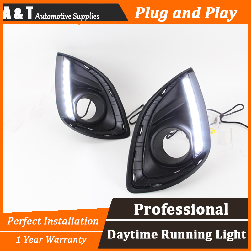 A&T car styling For Mazda 2 LED DRL For 2 led fog lamps daytime running light High brightness guide LED DRL for lexus rx gyl1 ggl15 agl10 450h awd 350 awd 2008 2013 car styling led fog lights high brightness fog lamps 1set