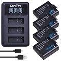 Аккумулятор для камеры PG1050 SJ4000 4x1180 мАч + светодиодный 3-слотный USB зарядное устройство для SJCAM SJ4000 SJ5000 SJ6000 SJ8000 EKEN 4K H8 H9