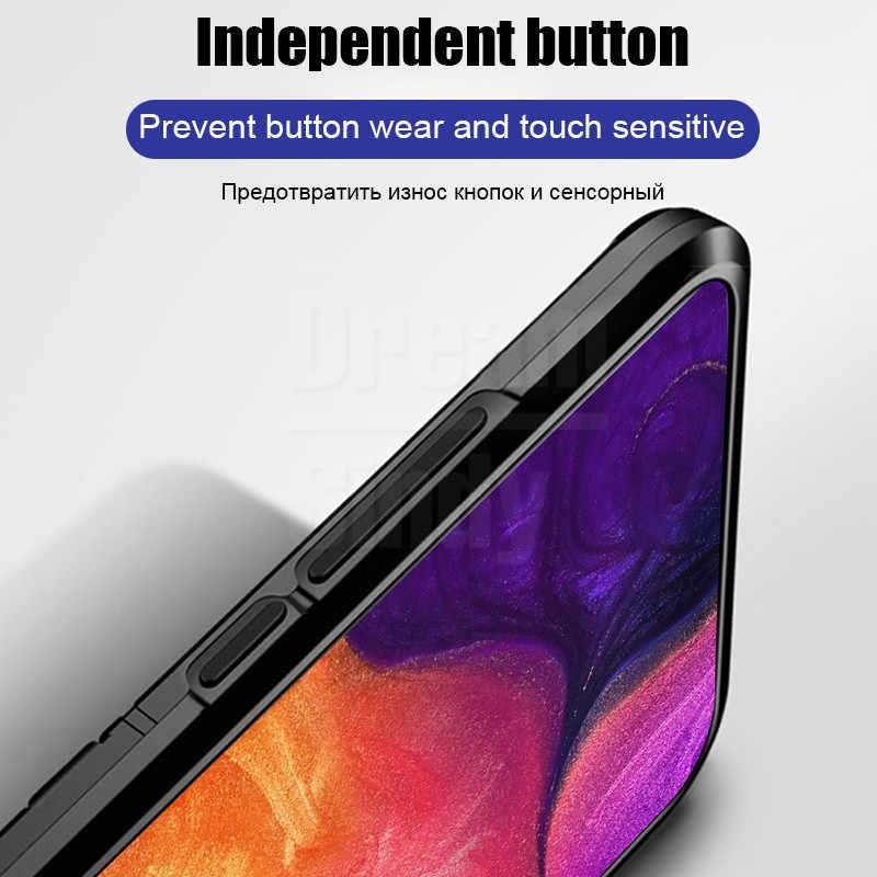 De Lujo armadura caso de parachoques suave en el para Samsung Galaxy A7 2018 A10 A30 A20 A70 A60 A50 M30 M20 m10 a prueba de golpes a prueba de anillo de la cubierta de la Caja