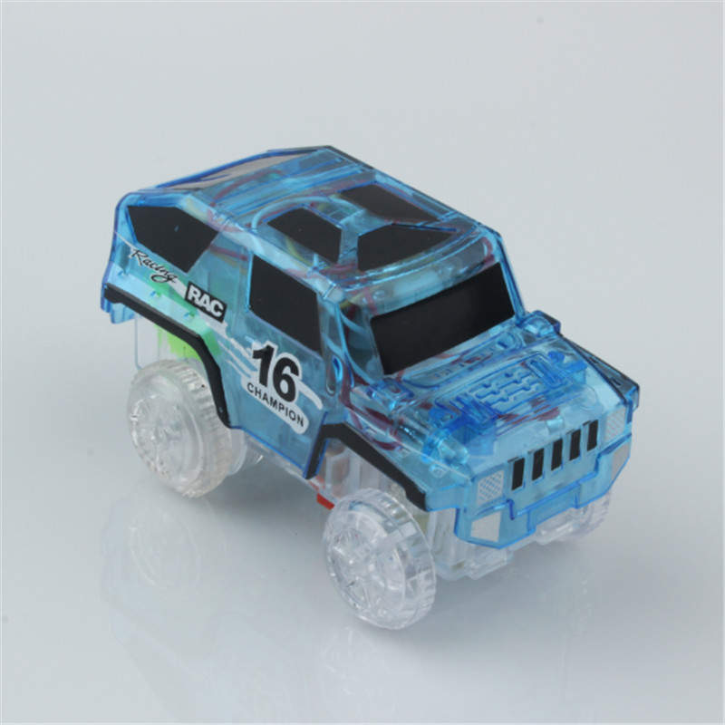 Electronic LED Car Toys Flashing Lights Boys Gift Mini Race Track Car Kids Flexible Racing Cars Play with Glow Race Track Toy