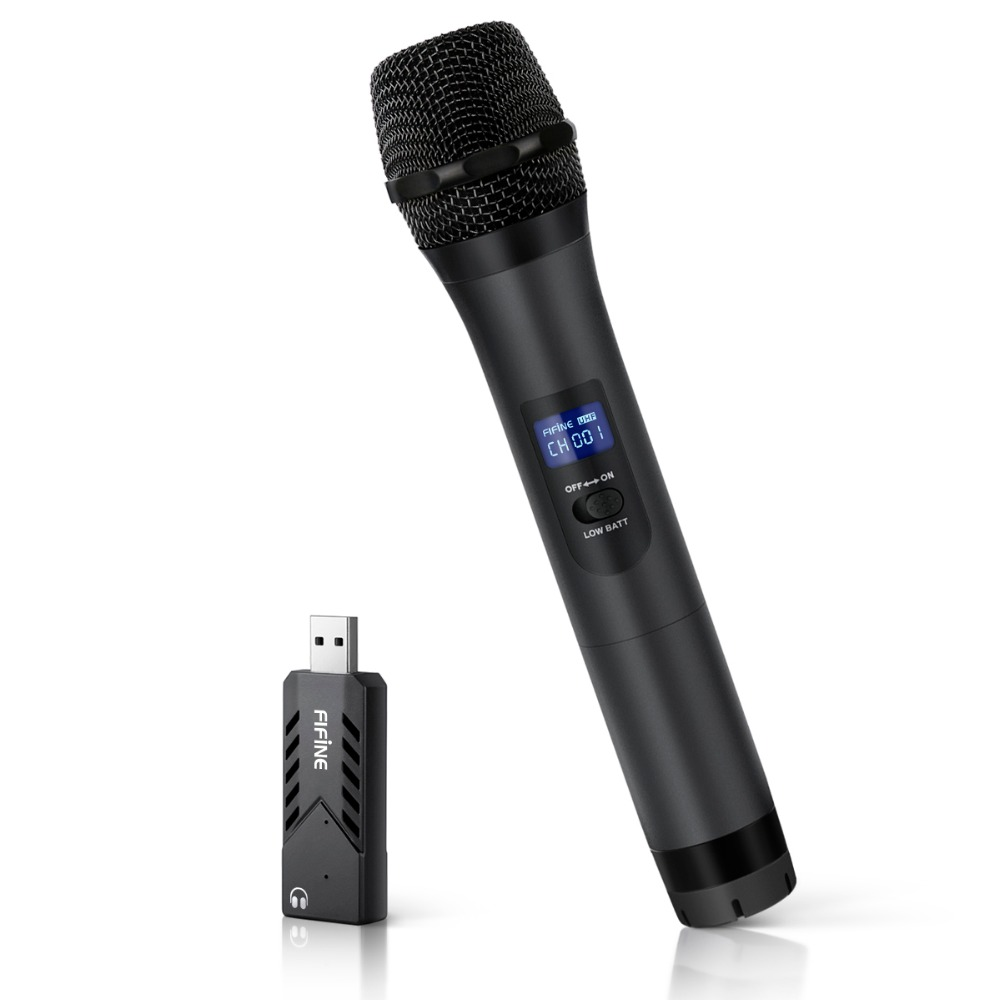 FIFINE Wireless USB Microphone UHF Handheld Dynamic Mic with USB Receiver Output to Laptop or PC for Teaching Meeting K026 2