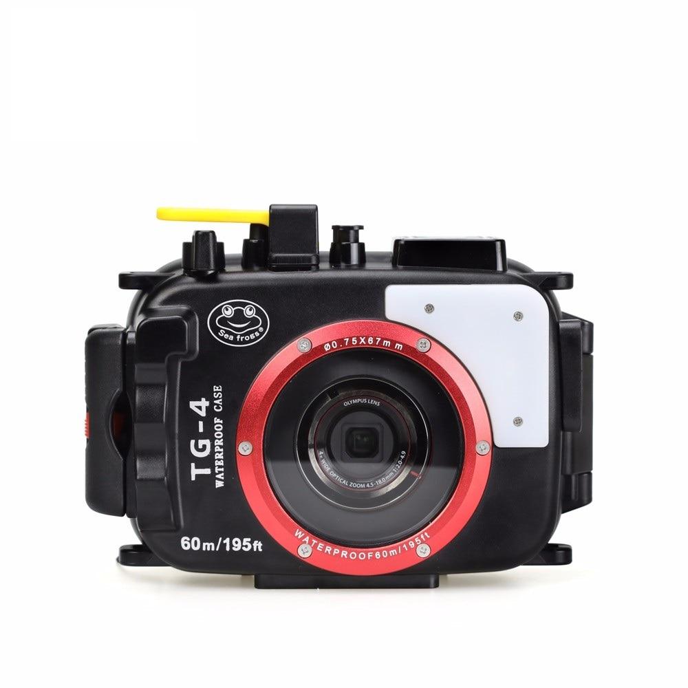 Mcoplus 40m 130ft Underwater Waterproof Diving Housing Camera Case for Olympus TG 4 TG4 TG3 TG