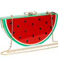 Evening Clutch Bags Lemon Watermelon Women Messenger Bags Chain Bag Women Shoulder Bag Lady Clutch Watermelon Handbag LM2563S