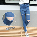 Girls Denim Pants Elastic Waist Jeans For Girls Children Clothing 2017 New Kids Trousers 3 5 7 8 9 11 13 14 Years School Clothes