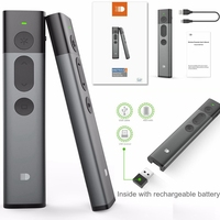 Doosl Green Laser Pointer Powerpoint Pen Clicker Controller 2.4GHz PPT Wireless Presenter RF Wireless Remote Control Windows