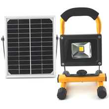 10W  IP65 solar & adapter car plug Rechargeable cordless portable Solar rechargeable camping lamp