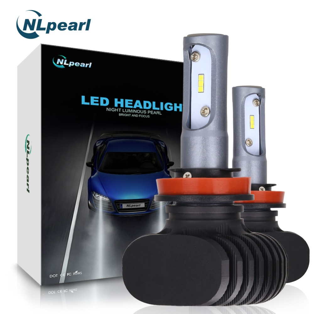 NLpearl 2Pcs 8000LM Pair 6500K 12V 50W Csp Chip Super Led Auto Car Lights Fog Led