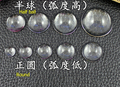 Free shipping! 100pcs 20mm clear domed magnifying half ball glass cabochons,photo jewelry pendant tray inserts